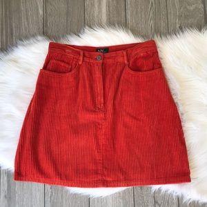 New York and Company Orange Skirt